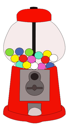Gumball machine clipart bubble gum.