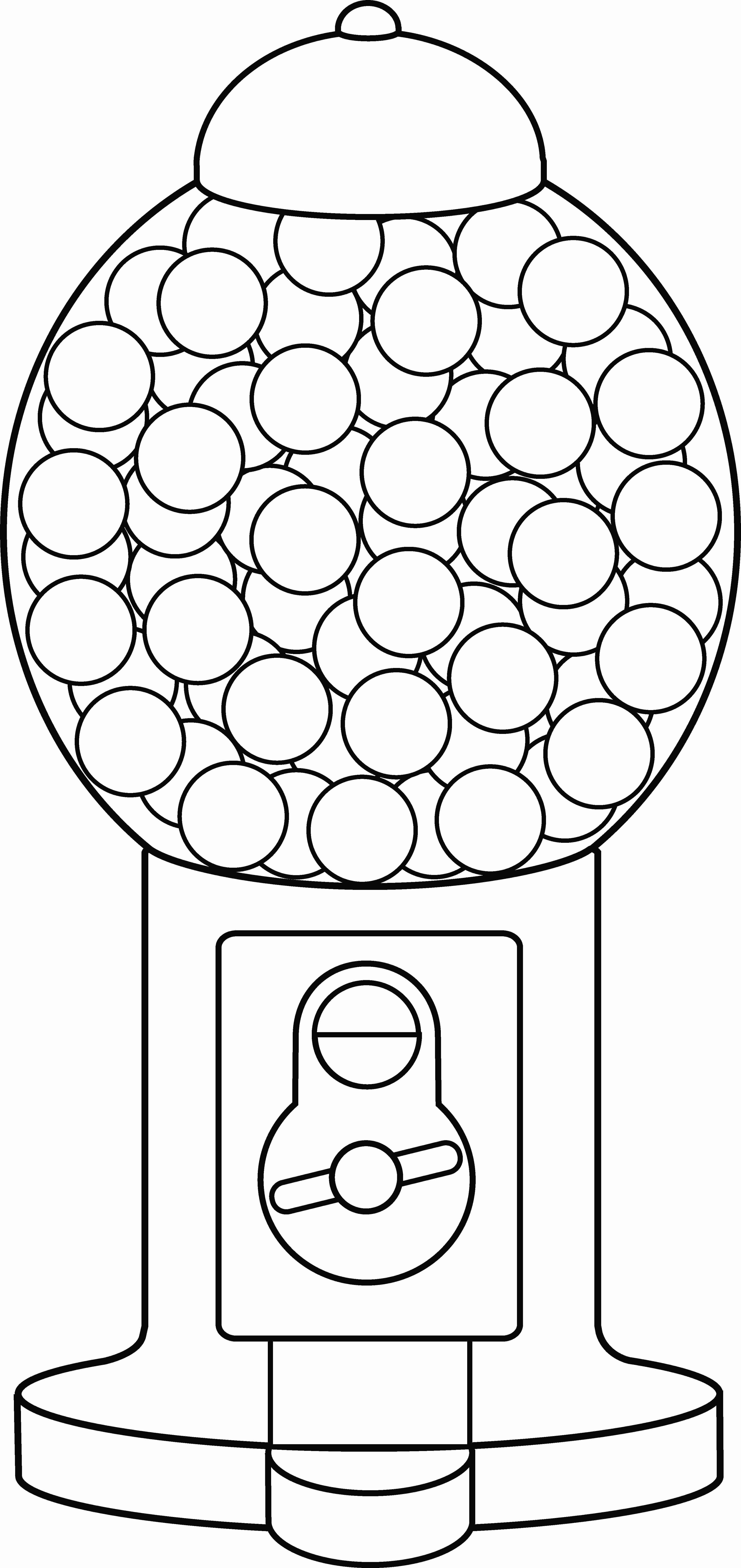 Gumball machine clipart bubble gum. Coloring page free clip