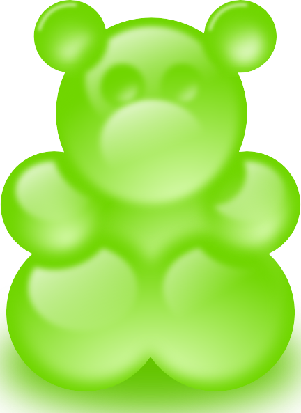 Gummy clipart green bear. Clip art at clker