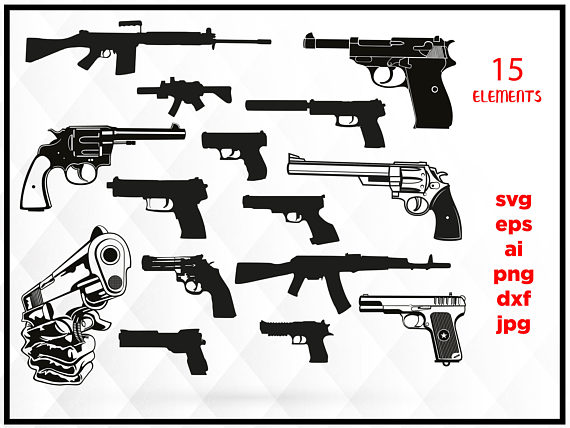 Guns clipart weapon. Off sale svg