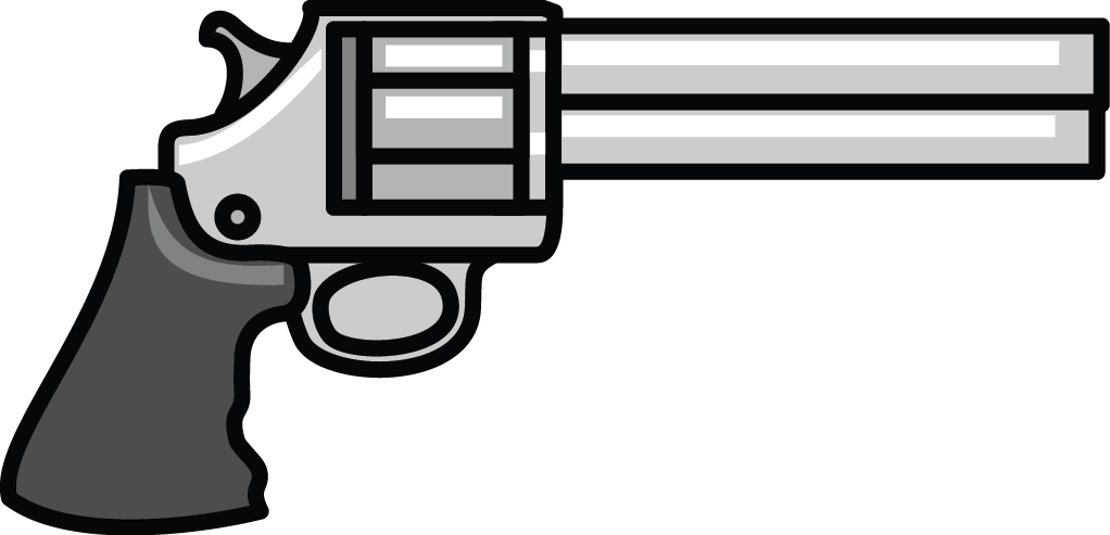 Transparent rifle simple. Collection of gun