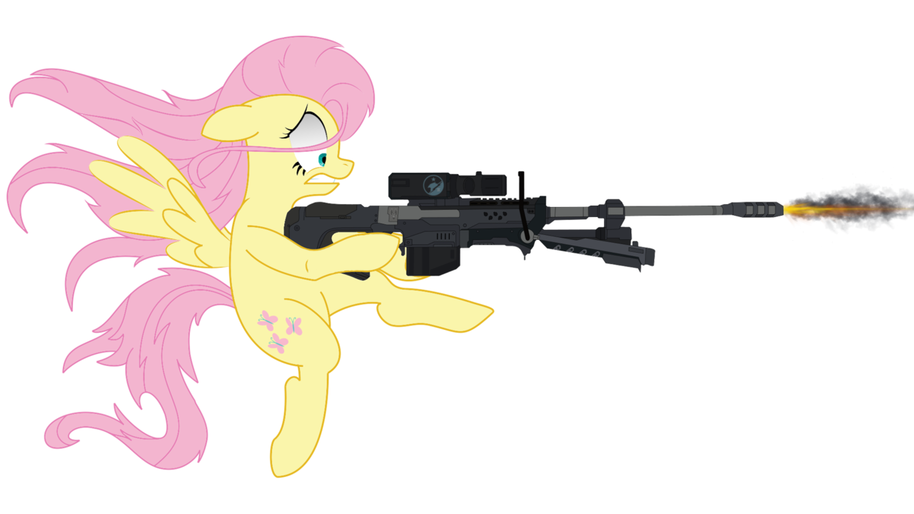 Transparent rifle simple. Artist yognaughtsteve cutie