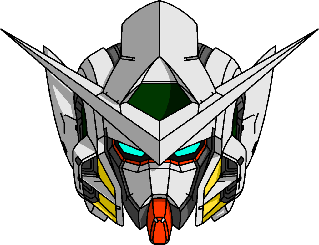Gundam head png. Gn exia version by