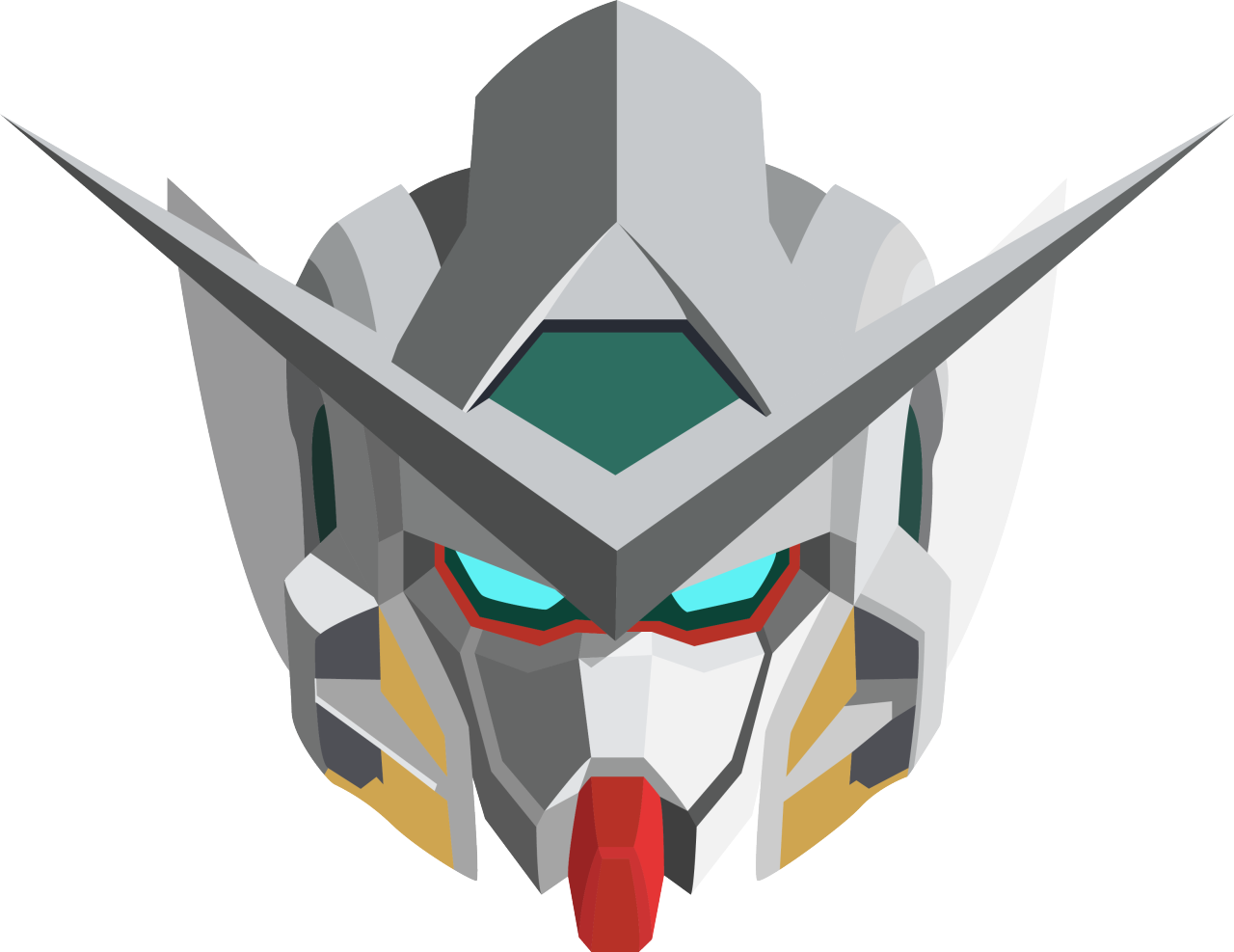 Gundam head png. Etiger exia from this