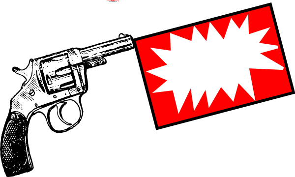 Guns clipart flag. Gun with bang clip