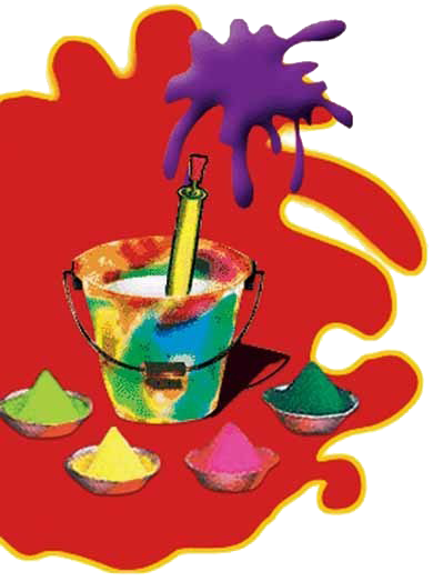 Guns clipart holi. Bucket free on dumielauxepices