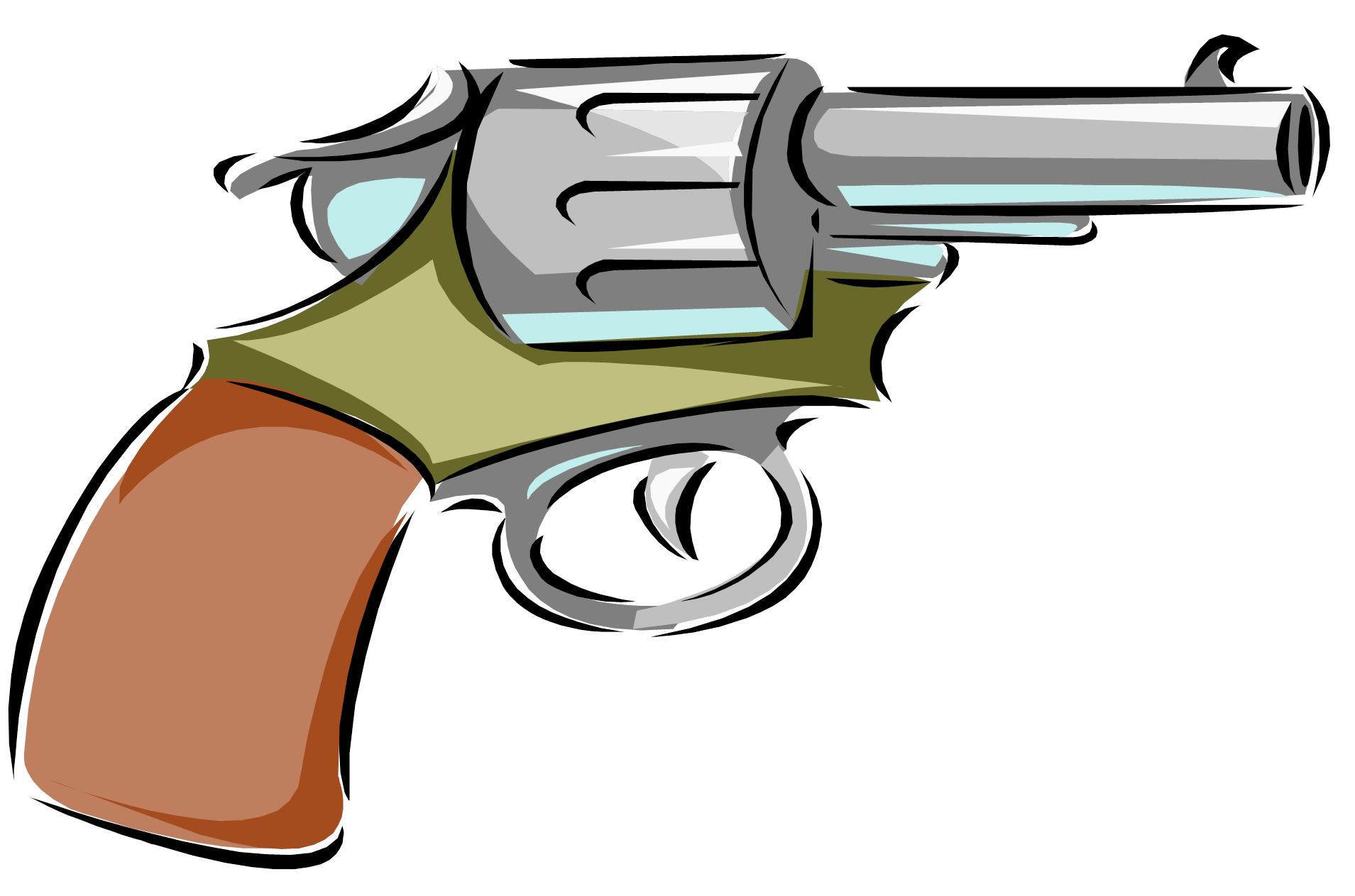 Guns clipart pistol. Gun police free collection