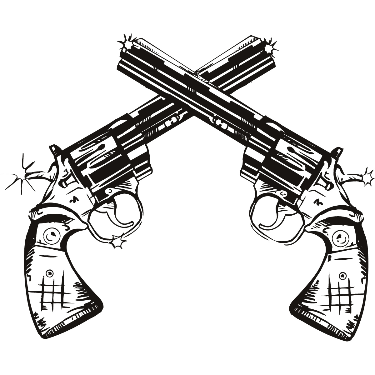 Guns clipart pistol. Pistols collection gun drawn