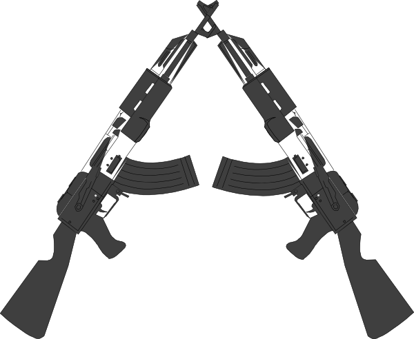 Crossed guns clipart clip. Vector handguns svg black and white stock