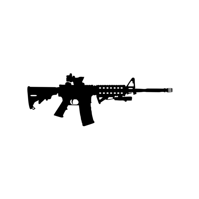 Guns clipart svg. Ar gun ammo assault