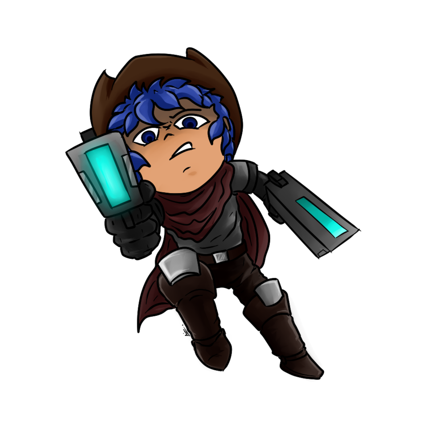 Gunslinger drawing. Trove by ainogommon on