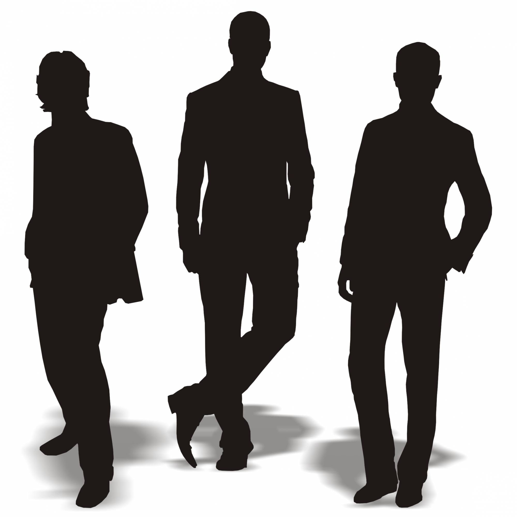 Guy clipart 3 guy. Black man silhouette at
