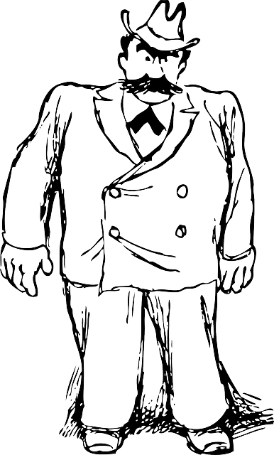 Guy clipart big person. Black large outline man