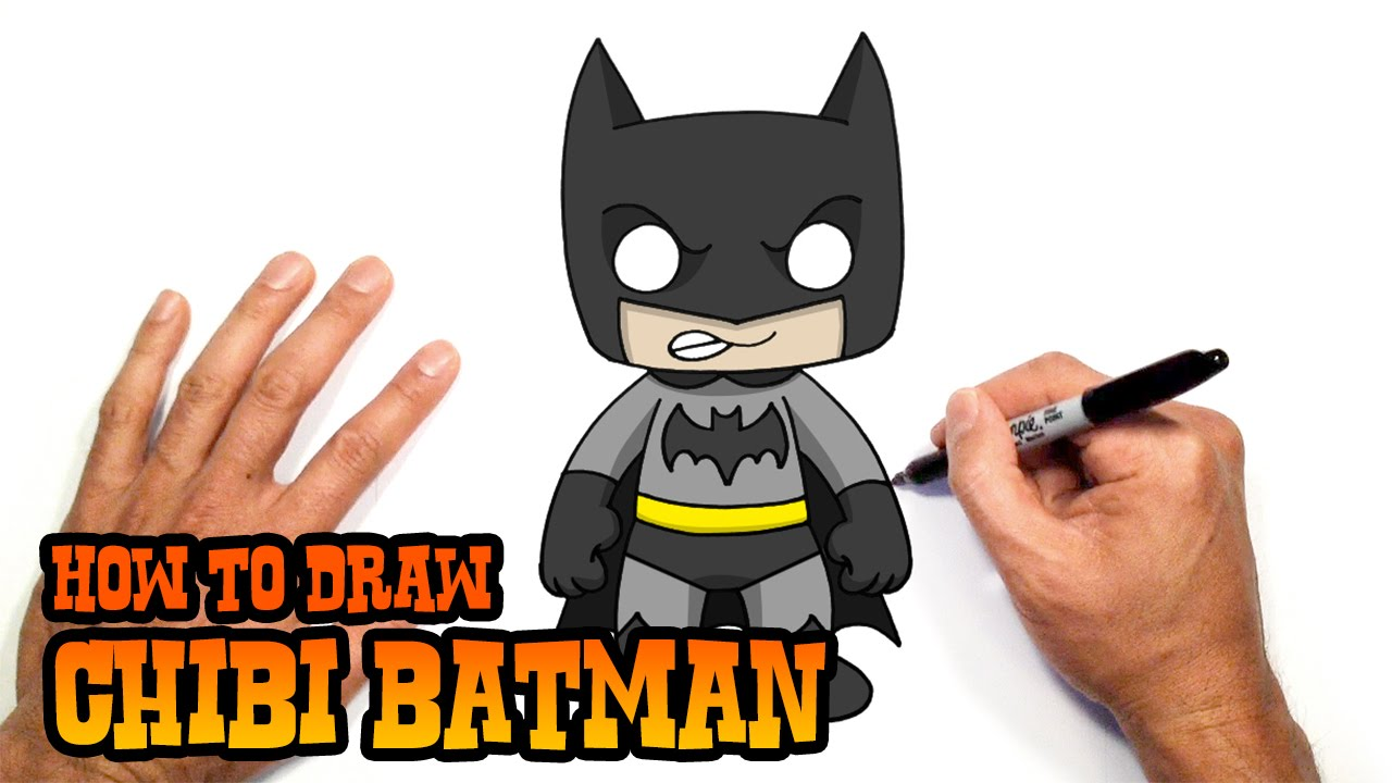 Guy clipart chibi. How to draw batman