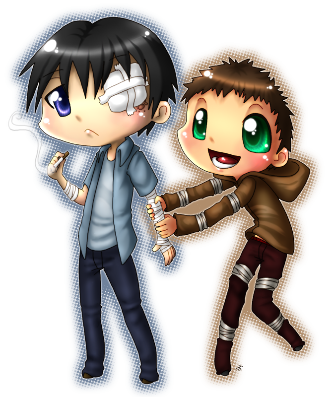 Guy clipart chibi. Steven and hyman by