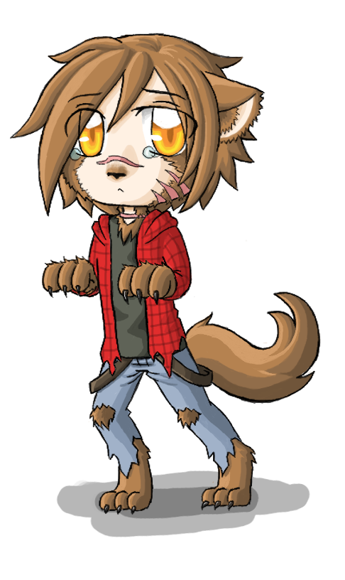 Guy clipart chibi. Werewolf images gallery for