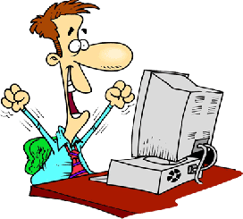 Computer clip training. Guy clipart