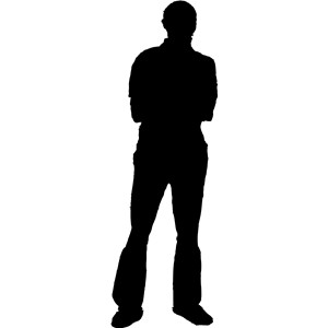 Guy clipart silhouette. Man clip art at