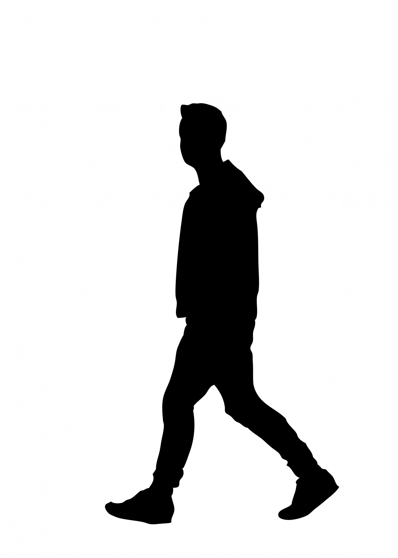 Man walking free stock. Walk clipart silhouette clipart library