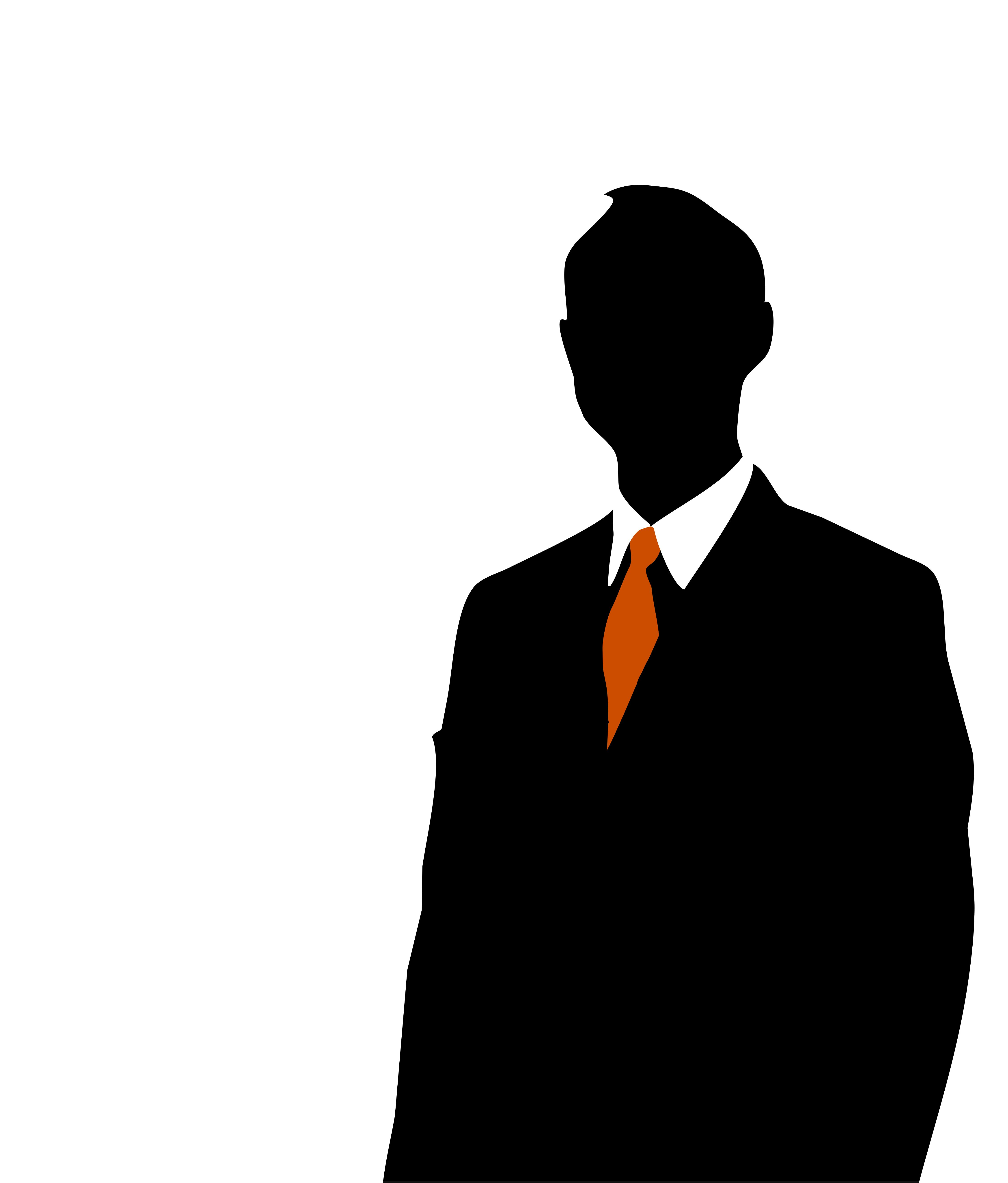 Person clipart. Silhouette of man at