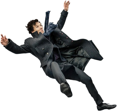 Falling person png. Image sherlock fall pixie