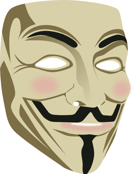 Guy fawkes mask png. Clip art at clker
