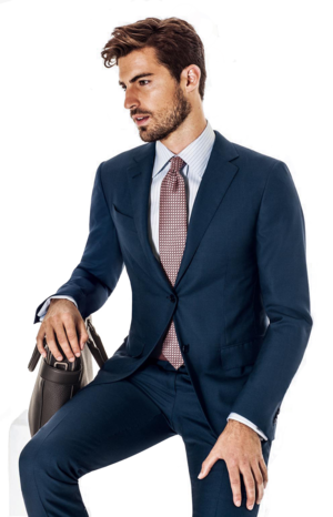 Guy in a suit png. Hall madden navy slim
