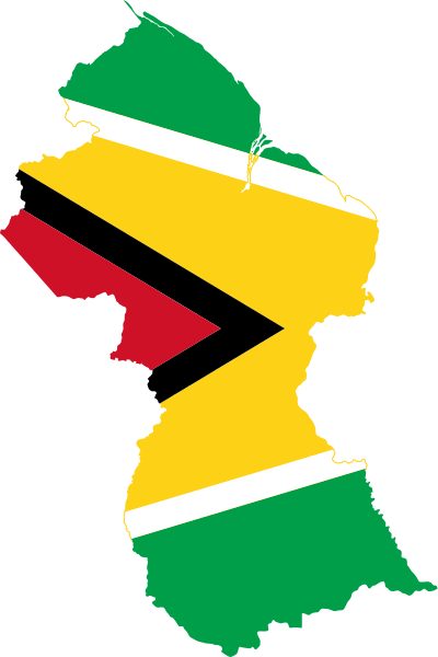 Guyana flag png. File map of svg