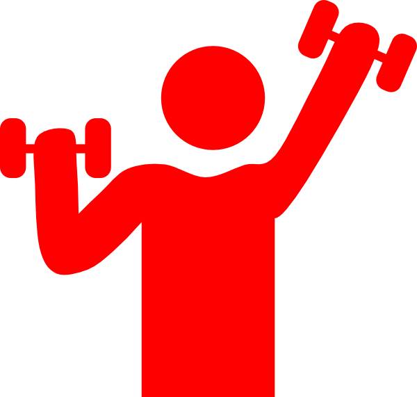 Gym clipart. Red clip art at