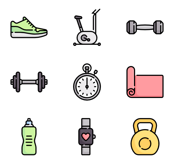 Gym clipart gym instrument. Equipment icon packs