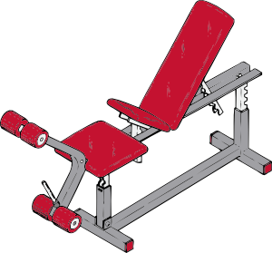 Gym clipart exercise machine. Bench clip art at