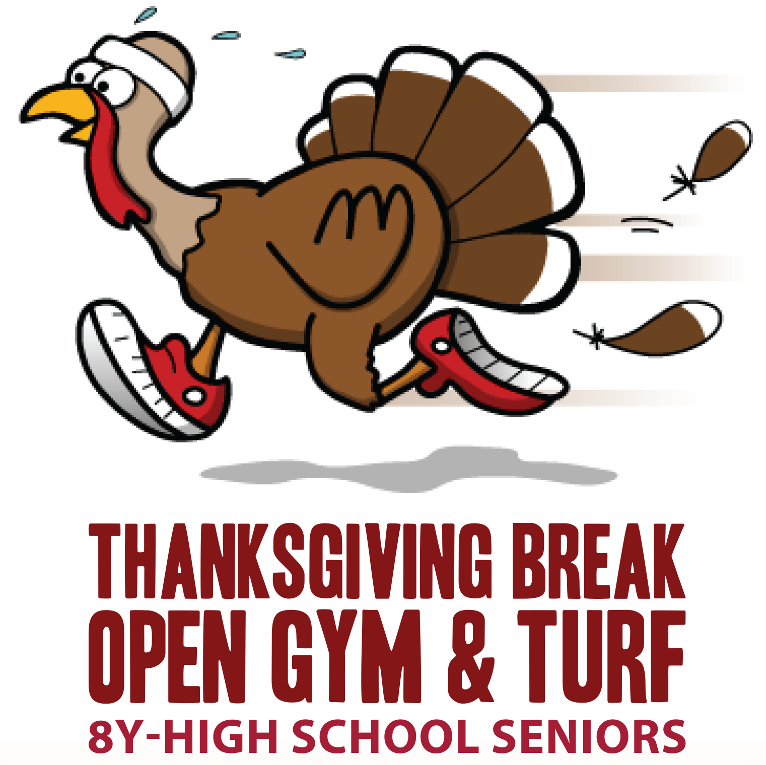 Gym clipart school gym. Thanksgiving break open turf