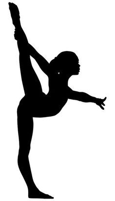 Gymnast clipart. Gymnastics silhouette at getdrawings