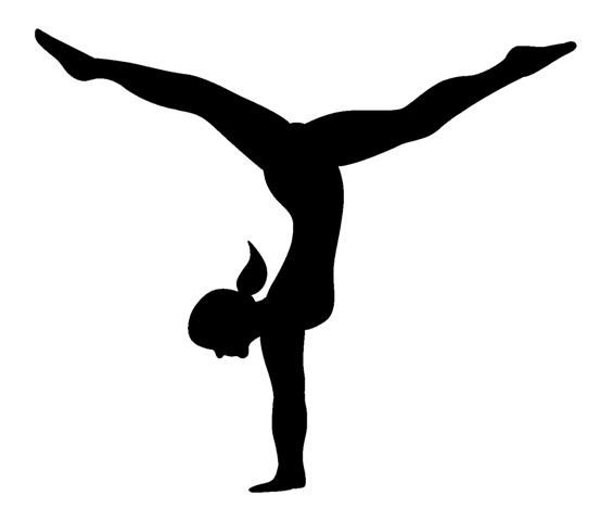 Gymnast clipart. Clip art silhouette free