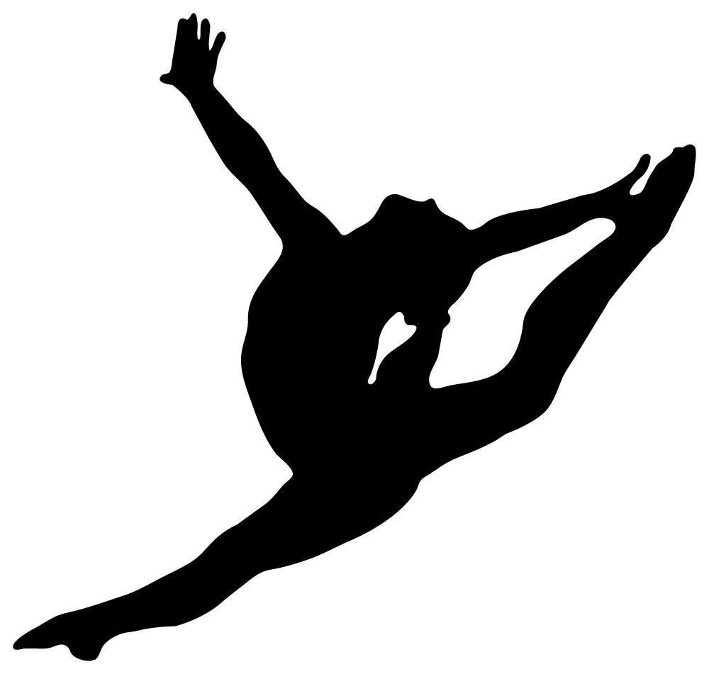 Gymnast clipart air. Outline of a gymnastics