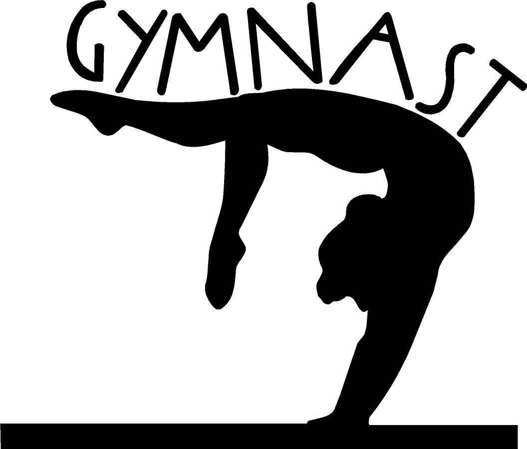 Gymnast clipart air. Gymnastics silhouette free clipartfest