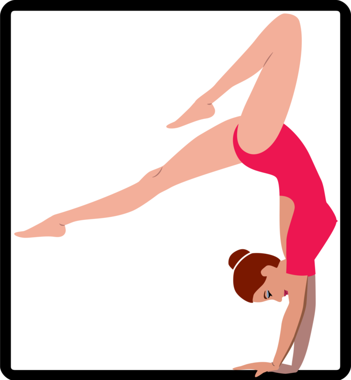 Gymnast clipart fitness. Gymnastics physical line art