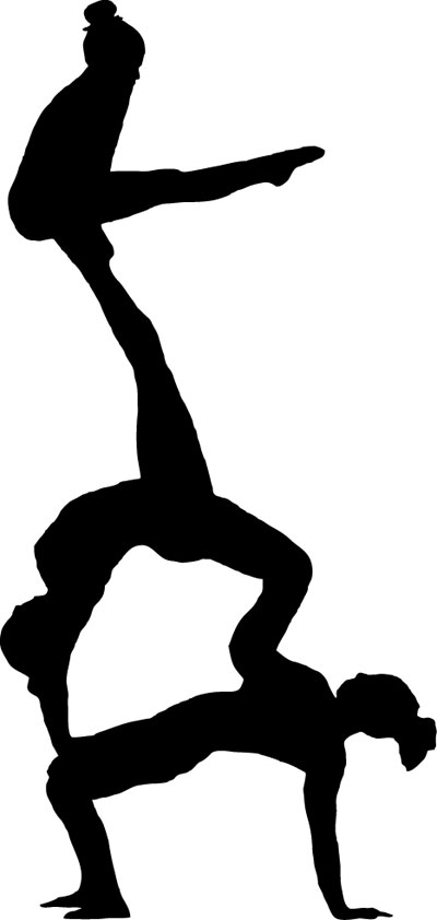 Gymnast clipart fitness. Clip art silhouette free
