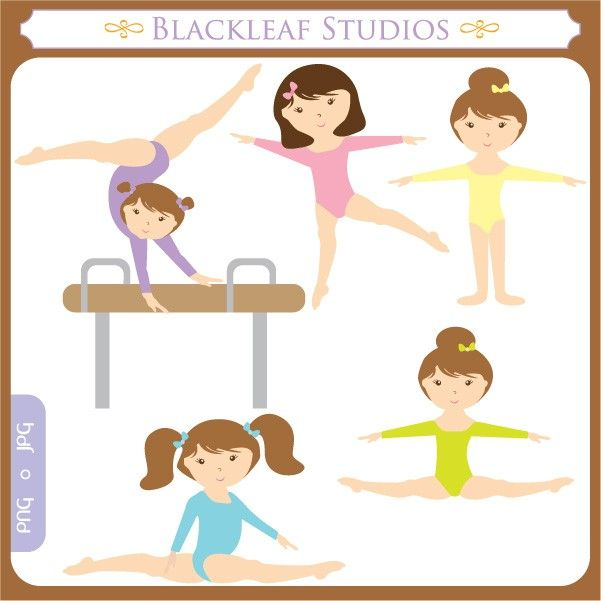 Gymnast clipart fitness. Little clip art instant