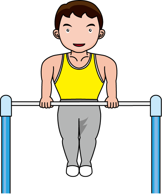 Gymnastics clipart parallel bar. Free boys cliparts download