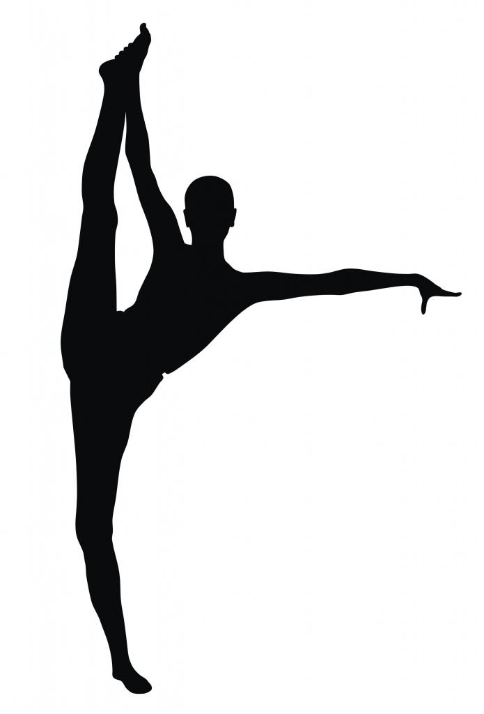 Gymnast clipart scorpion. Female silhouette at getdrawings