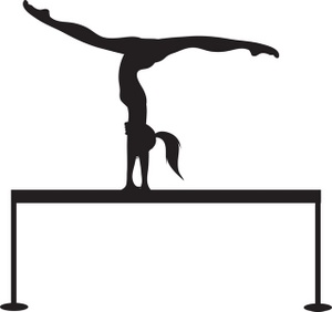 Gymnast clipart traceable. Silhouette gymnastics at getdrawings