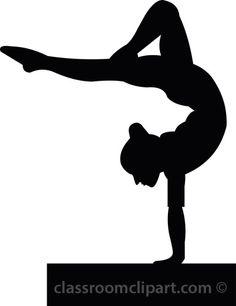 Gymnast clipart traceable. Free printable gymnastic silhouettes