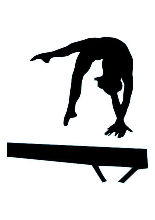 Gymnast clipart. Free gymnastics pictures clipartix