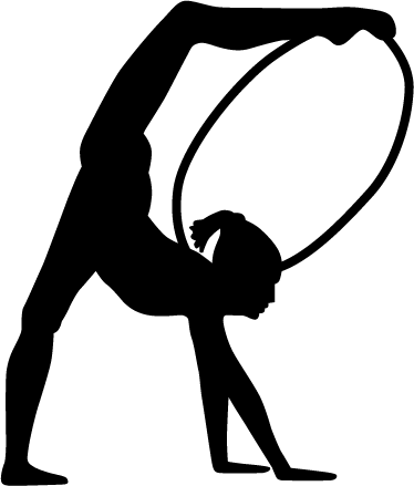 Gymnast silhouette png. Gymnastics stickers at getdrawings