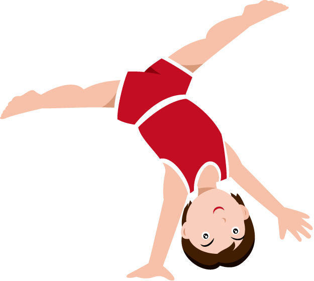 Gymnast vector animated. Collection of free cantoon
