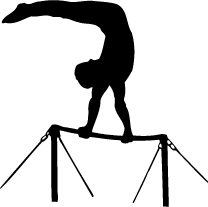Gymnast vector bar clipart. Uneven pencil and in