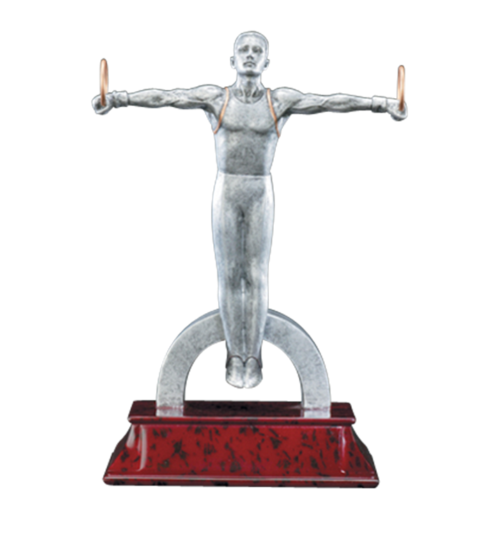 Gymnast vector cut out. Resin gymnastics trophies elite