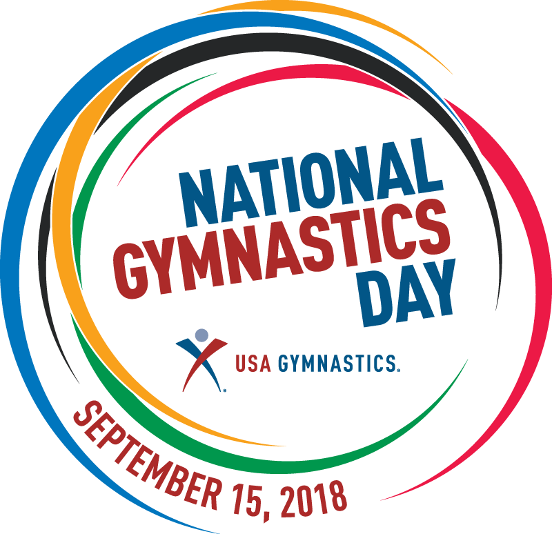 Gymnast vector cut out. Celebrate national gymnastics day