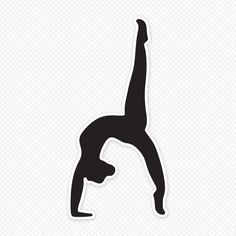 Gymnastics clipart handstand. Gymnast silhouette at getdrawings